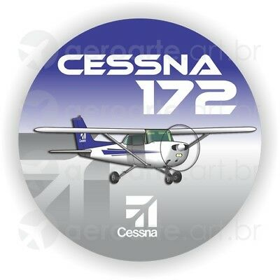 Cessna 172 aircraft round sticker