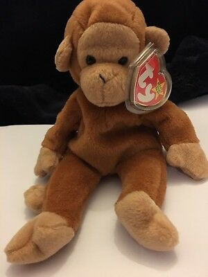 Ty Beanie Baby: Bongo The Monkey. Perfect Condition. With Tag