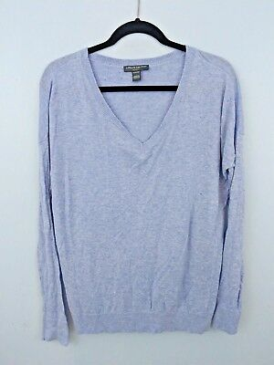 A Pea In The Pod V-neck Sweater Oversized Top Heather Blue Maternity Basic