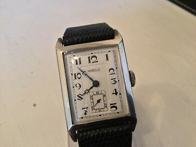 Hirco Art Deco Sterling silver vintage Watch