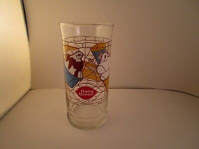 Vintage Clear Drinking Glass Tumbler Dairy Queen Advertising 1988