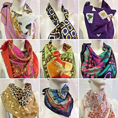 Vintage Wholesale Lot Ladies Women's Square Neck Scarf Mix x 100 *SALE*