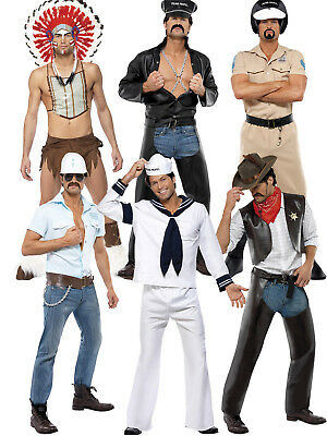Official Village People Fancy Dress Costume YMCA 70's Stag Do Gay Pride Novelty