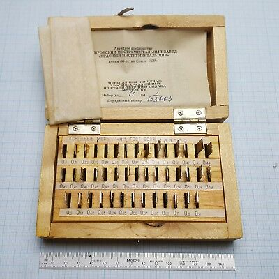 Slip Gauge Block Set 0.3-0.9mm (10 µm step) Grade 1 (43 pcs) Endmass Satz USSR