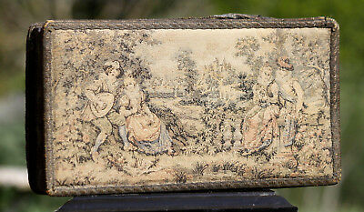 Boite ancienne tapisserie / Vintage Antique French Tapestry Box