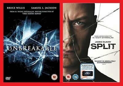 Unbreakable and Split DVD Double Pack Brand NEW Sealed Bruce Willis James McAvoy