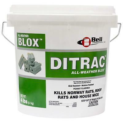 Ditrac All Weather Blox 4 Lbs Rat Mouse Rodent Bait Blocks Poison Killer