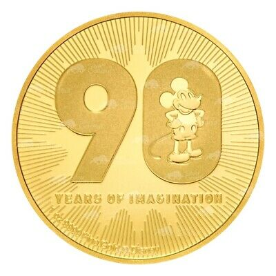 1 oz 2018 Disney Mickey Mouse | 90th Anniversary Gold Coin