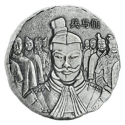 5 oz 2018 Scottsdale Mint Terracotta Army Antiqued Silver Coin