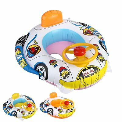 Inflatable Swimming Pool Ring Float Boat Seat Baby Kids Toddler Raft