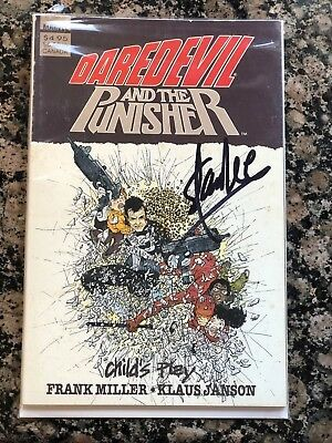 Daredevil & the Pusher Childs Play SIGNED BY STAN LEE Comic Book Miller & Janson