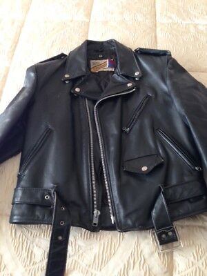 PERFECTO SCHOTT NYC ORIGINAL MADE IN USA SIZE 40 - ITA 50 STEERHIDE LEATHER '90s