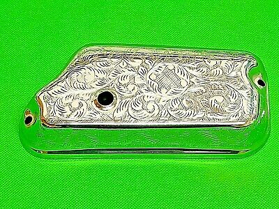 Chrome & Engraved Carburettor Cover Fits Vespa Px 125 150 200 Without Oil Pump