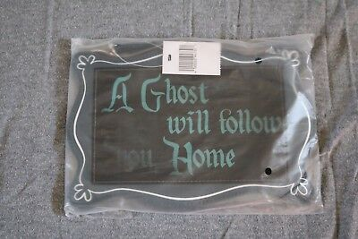 Disney Parks Haunted Mansion Hitchhiking Ghost Zipper Bag Clutch Purse NWT