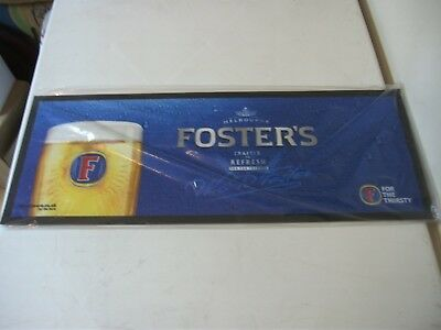 Brand new Fosters lager rubber / felt  bar runner,drip mat, mancave, home bar