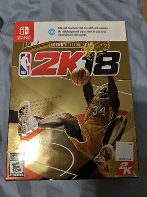 NBA 2K18 Legends Gold Edition Nintendo Switch NEW SEALED