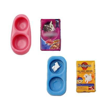 decdd6816fed 1 12 scale Doll House Miniature Kitchen Garden Pet Dog Food on Bowl Red SELL