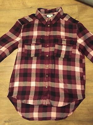 River Island Girls Checked Shirt Blouse Top Age 12