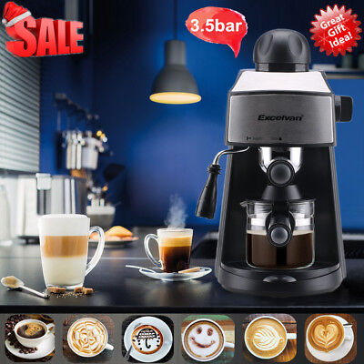 Espresso Cappuccino Latte Coffee Maker Milk Frother Machine Stainless Steel 800W