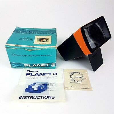 Photax PLANET 3 Slide Viewer | TESTED 100% Working - Very Good Condition | Boxed