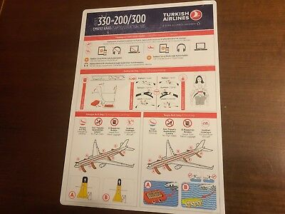 Safety Card Turkish Airlines