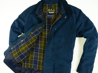 Men's Blue Navy Barbour Coquet Waterproof Breathable Hunting Jacket Size:x-Large