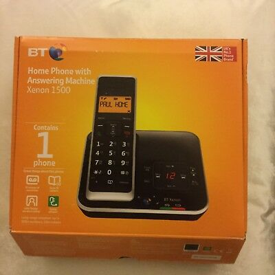 BT Xenon 1500 Cordless Telephone with Answering Machine, Single DECT