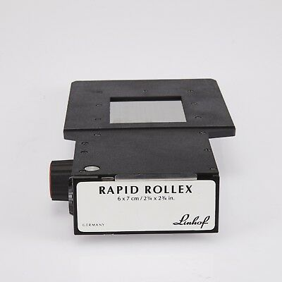 "linhof rapid  rollex 6x7 film back holder for 4X5"" camera EX+++"