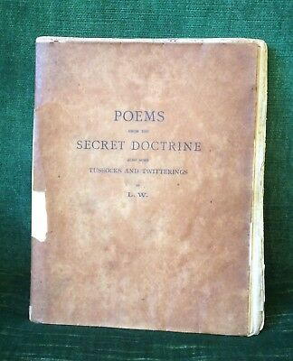 Poems from the Secret Doctrine  1897