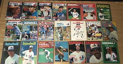 100 DIFFERENT Magazines programs yearbooks 1970-1998 w/ MONTREAL EXPOS COVER