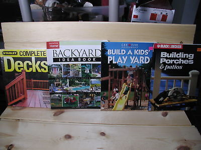 #255- USED 4pc Wood Working Books- decks, backyards, play yard, porches