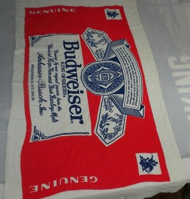 Vintage Anheuser Busch Budweiser King of Beers Label Logo 54 x 30 Beach Towel