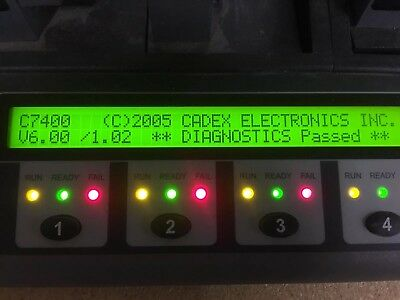 CADEX C7400-Series Battery Analyzer  - With 3 XTS 2500 Adaptors and 3 3000