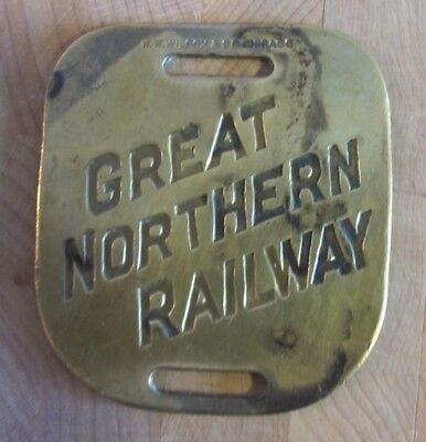 Great Northern Railway Brass Baggage Tag
