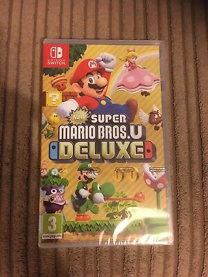 New Super Mario Bros. U Deluxe Nintendo Switch Game New And Sealed