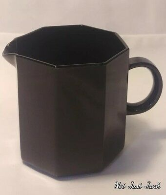 M-C-M French Arcoroc Octime (octagon) Black Glass Small Creamer Dish ~MINT Cond.