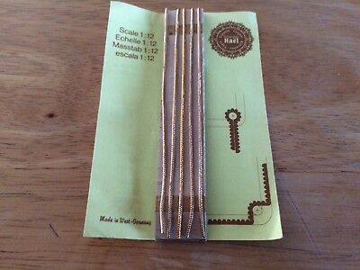 Solid Brass RODS For Stair Carpets New 1/12 Scale