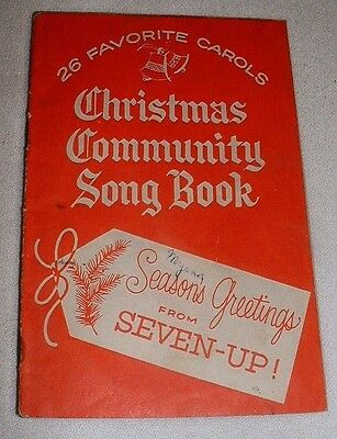 Vintage 1956/59 Christmas Community Song Book Season's Greetings From 7-Up