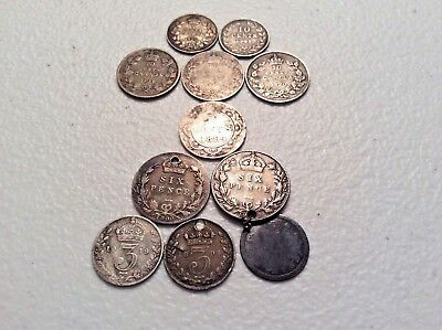 Lot of vintage silver Canada and British coins