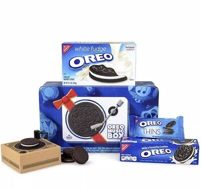 Oreo Music Box Cookie Record Player Collectible Holiday Gift Tin. NEW. SEALED
