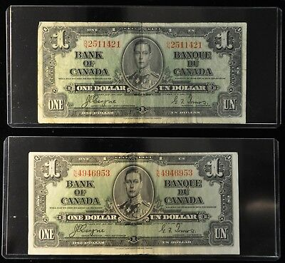 (2) 1937 Bank of Canada $1 Notes. ITEM B2
