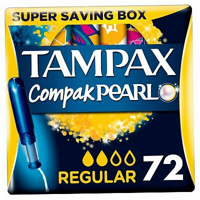 Tampax Pearl Active Fresh Tampons régulier avec applicateur, Lot de 4, 18-count