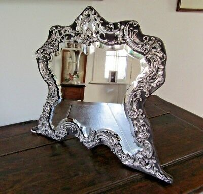 Antique 56.5cm Victorian Silver Large Mirror William Comyns London 1901