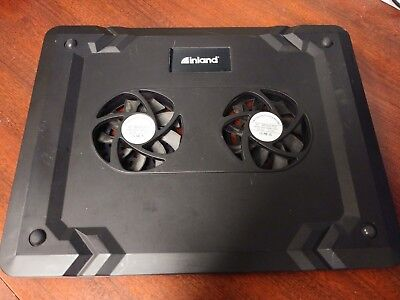 Inland notebook laptop cooling pad Dual-fan quiet operation 12 x 9.5