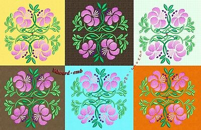 Blumen Ornament embroidery PES DST ART VIP HUS Design für Stickmaschine
