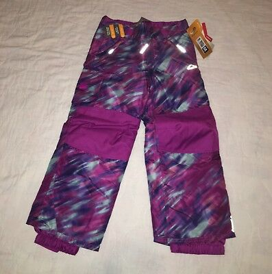 NEW Kids Champion Snow Pants Venture XS (4-6) Purple Blue Girls Water Resistant