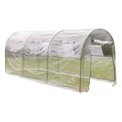 Steel Frame Polytunnel Greenhouse Pollytunnel Poly Tunnel 4.5m x 2m Transparent