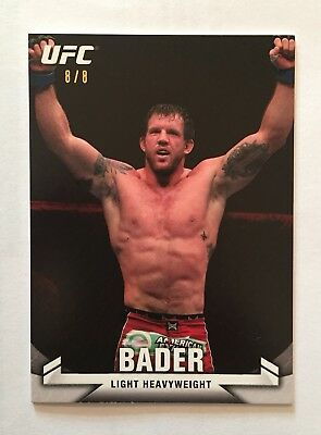2013 Topps UFC Knockout ~ Ryan Bader (RUBY/RED) Base Parallel Card! (#8/8)