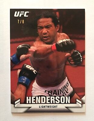 2013 Topps UFC Knockout ~ Benson Henderson (RUBY/RED) Base Parallel Card! (#7/8)