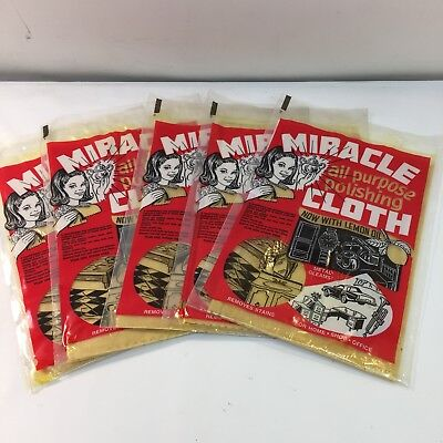 Lot Of 5 Packs New Miracle All Purpose Polishing Cloth With Lemon Oil 9x13